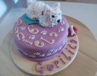 Tarta Westy (west highland terrier)